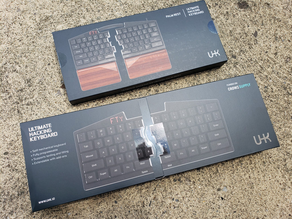 ultimate hacking keyboard boxes